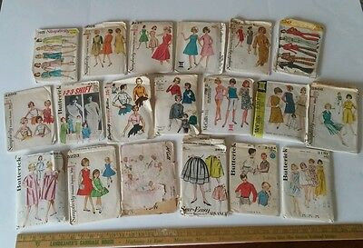 Lot of 19 Vintage 50s 60s 70s Sewing Patterns McCalls Simplicity Vogue Butterick