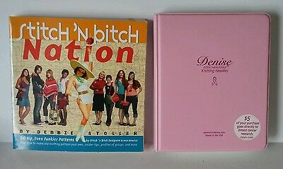 Stitch 'n Bitch + Denise Pink Breast Cancer Interchangeable Knitting Needles Kit