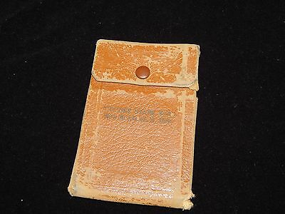 Vintage Check Wallet, NEW ENGLAND, NORTH DAKOTA, ND, Leather Wallet With Check