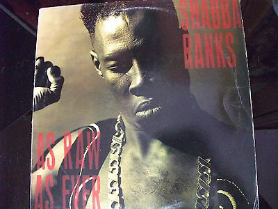 Shabba Ranks-As Raw As Ever Lp 1991 Epic Label