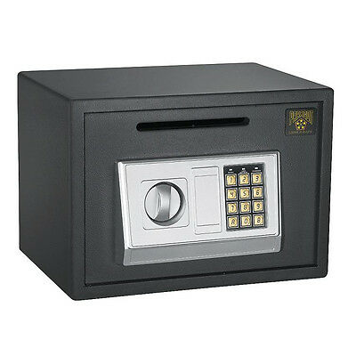 Digital Depository Safe Security Cash Drop Box Electronic Lock Money Home Office