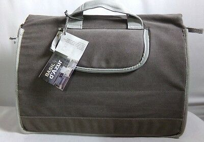 Gray Bicycle Bikers Messenger Bag Carrier Attaches to Bike With Rain Cover