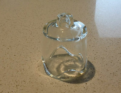 Vintage AGEE PYREX Clear Glass PIE Funnel VENT Baking