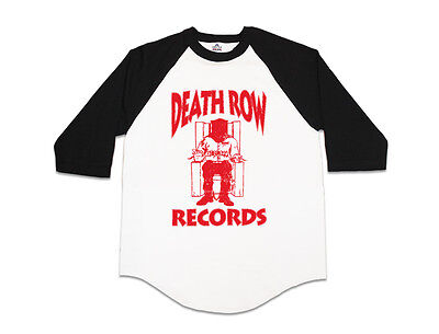 Death Row Records Baseball Tee Compton Dr DRE Tupac Suge Knight Dogg Pound Snoop