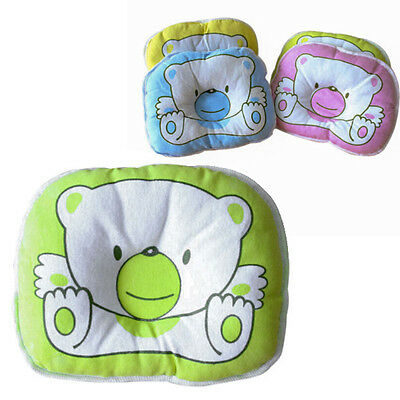 New Bear Pillow Newborn Infant Baby Pad Prevent Flat Head Sleep Positioner Soft