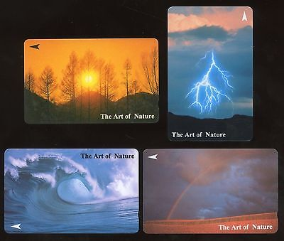 Collection of 4  phonecards - The Art of Nature Singapore Telecom