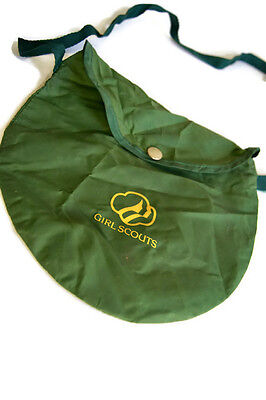 Vintage Girl Scout Camping  Shoulder Bag Pouch Carrying Storage Case Green