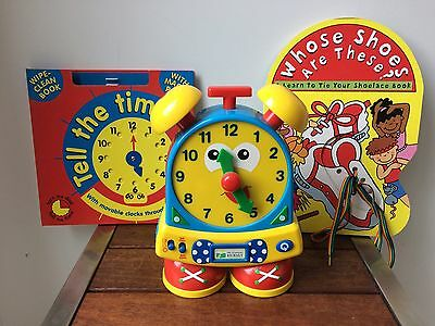 Bulk Educational Learning Journey Teaching Time Clock + Books Primary Ages 3+
