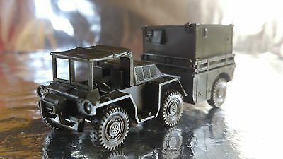 * Roco Minitank 389 Military Vehicle With a Covered Trailer 1:87 HO Scale