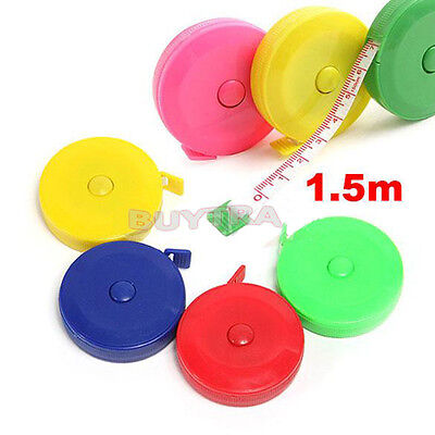 Retractable Ruler Tape Tailor Sewing Cloth Diet Measuring 60Inch/150cm Gift ATAU