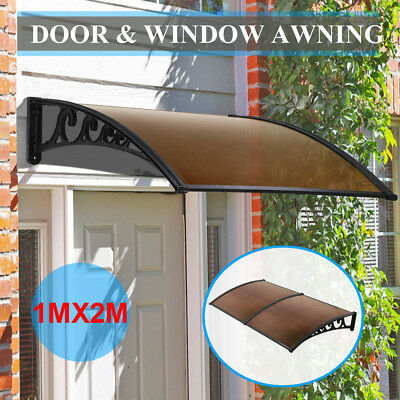 NEW DIY Canopy Window Door Awning Patio UV Rain Outdoor Cover Sun Shield 1m x 2m