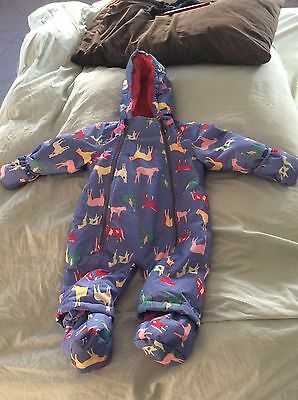 Joules Baby Girl All In One Snowsuit 3-6 Months Winter Suit