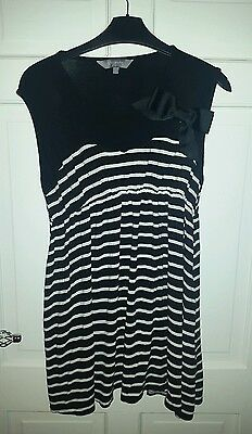 new look maternity uk 12 - 14 top black & white