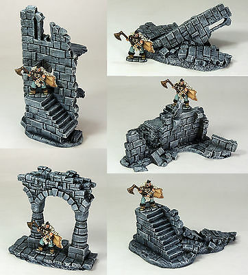 'ruined Battlements Pack' - Fantasy Terrain - Painted To Collector's Standard