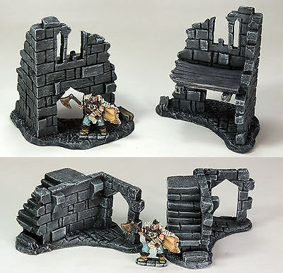 'ruined Corners Pack' - Fantasty Terrain - Painted To Collector's Standard