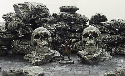 'rock Skulls' - Fantasy Terrain - Painted To Collector's Standard
