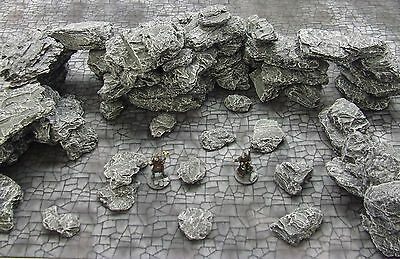 Medium 'rock & Boulder Pack' - Fantasy Terrain - Painted To Collector's Standard