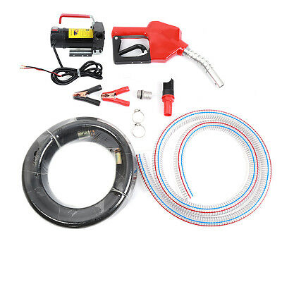 12V Diesel Fluid Extractor Electric Oil Transfer Pump Car Fuel Auto Speed