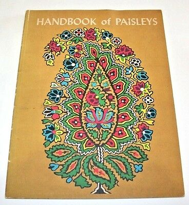 Paisley Handbook Textile Pattern Style Book 1950s Fabric Sample History Design