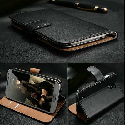 Luxury Real Genuine Leather Case For Sony Xperia Experia Wallet Flip Cover Stand
