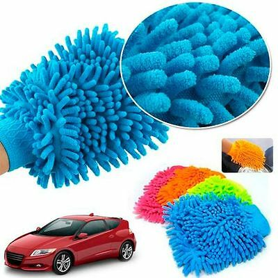 Scratch Super Microfiber Gloves Valeting New Mitt Chenille Car Cleaning Wash