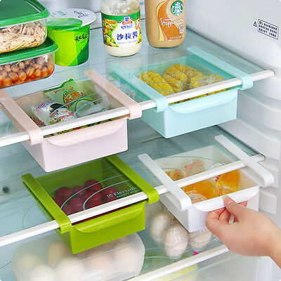 Portable Refrigerator Container Organizer Storage Shelf Holder Box Kitchen Tools