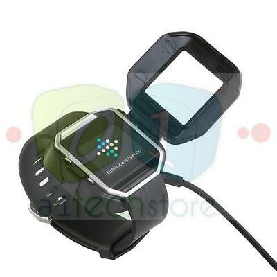 USB Charging Cable Power Charger Dock Cradle For Fitbit Blaze Watch No Removal