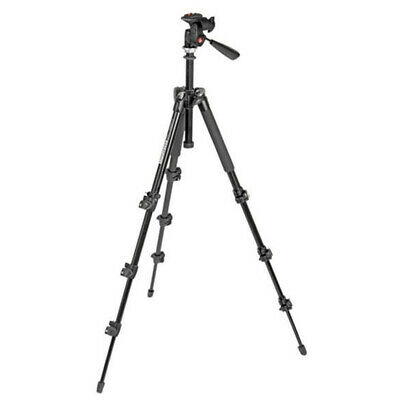 New In Box Manfrotto MK293A4-A3RC1 Aluminium Compact Tripod With 3 Way Head QR