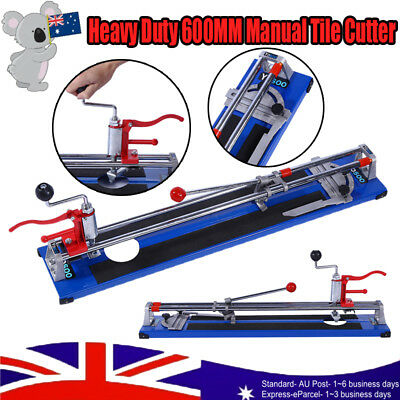 Heavy Duty 600MM Manual Tile Cutter Ceramic Porcelain Cutting Machine Home AU