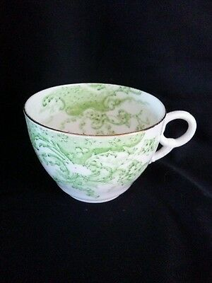 Vintage Tuscan Exquisite Green & White China Tea Cup