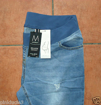 NEXT MATERNITY LOW RISE RELAXED SKINNY JEANS Size 14S or 18L ~BNWT~ BLUE £32