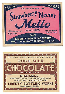 Hawaii vintage milk drink label New Old Stock NOS