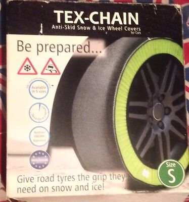 Tex Chain Anti-skid Snow & Ice Wheel Covers For Cars Size S Winter Tyre Glove