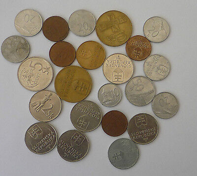 Slovenia Mixed collection of old coins Approximately 65g  Ref FBC737