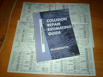 OEM part number guide  Toyota Carina 1988 - 92 Saloon Liftback and estate