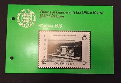 Guernsey Stamps - Presentation Pack - Europa 1978