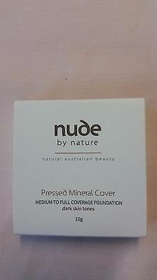 Nude By Nature- Pressed Mineral Cover(Medium To Full Coverage Foundation) + NEW
