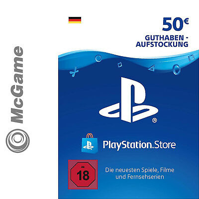 Playstation Network Card Karte 50 Euro € EUR | PSN | PS4 PS3 Vita | Guthaben
