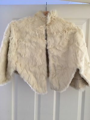 Ermine Fur Bolero Jacket Shawl Vintage 1920's Genuine