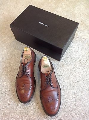 Pau Smith Mens Chestnut leather brogues size 7.5 Lincoln