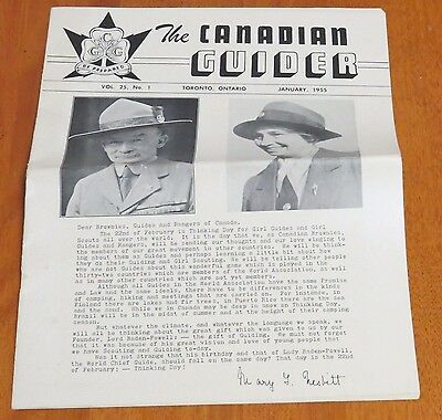 The Canadian Guider vol. 25, No. 1 January 1955