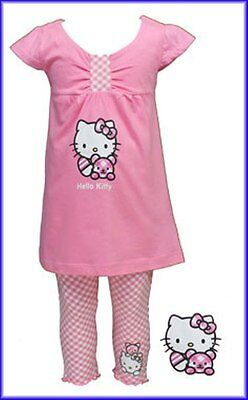 Hello Kitty Girls Sparkle Top and Leggings Set, Blue or Pink, BNWT