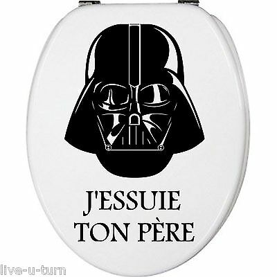 Sticker Fun Abattant toilette STAR WARS - Vinyl brillant couleur au choix
