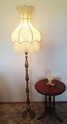 Lovely Elegant Boudoir Cream New Hand Crafted Lace Shade For  Floor Lamp