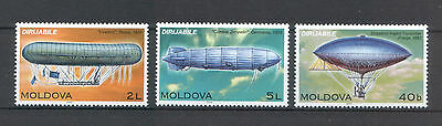Moldova 2003 Zeppelins, Airships, Dirigibles 3 MNH stamps