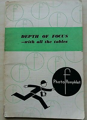 Depth of focus - with all the tables vintage photography book by Arthur Cox 1946