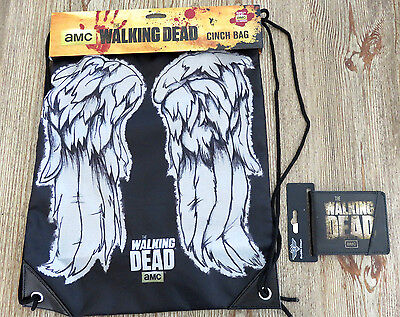 NWT AMC The Walking Dead Wallet and Cinch Bag