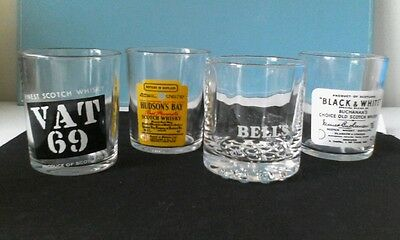 4 x Collectable Scotch Whisky Glasses