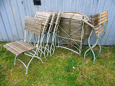 Vintage Design Garden Table & 5 Chairs