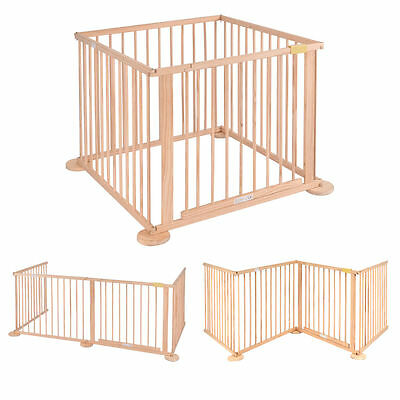 Heavy Duty Baby Child Wooden Foldable 4 Sided Kids Playpen Play Pens Room Divide